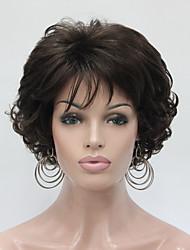 Perruques naturelles Synthétique Sans bonnet Perruques Court Châtain Cheveux