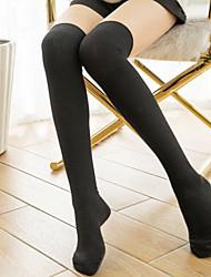 Socks/Stockings Sweet Lolita Sexy Elegant Lolita Princess Black White Gray Lolita Accessories Socks Solid For Cotton
