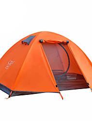 2 Personen Zelt Doppel Falt-Zelt Einzimmer Camping Zelt 2000-3000 mm Oxford AluminiumFeuchtigkeitsundurchlässig Wasserdicht