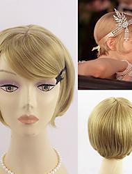 as grandes mulheres Gatsby copslay cabelo cabelo preto curto loiro duas cores escolha de moda resistente ao calor peruca de margarida