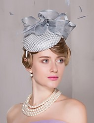 Lace Feather Flax Headpiece-Wedding Special Occasion Casual Office & Career Fascinators Hats 1 Piece
