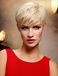 Ethereal  Short Hair  Fluffy  Human Hair Wig   Enchanting Woman hair