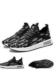 Homme-Bureau & Travail Décontracté Sport-Noir Gris RougeConfort-Chaussures d'Athlétisme-Sergé