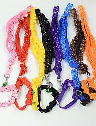 Moda corda lacework pet tração corda cão colarinho gato cão arnês pet natal acessórios pet suprimentos vendas por atacado largura 1.0