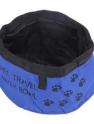 Gato Cachorro Tigelas e Bebedouros Comedouro Animais de Estimação Tigelas e alimentação de animais Portátil Vermelho Verde Azul