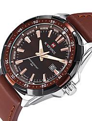 NAVIFORCE Pánské Sportovní hodinky Módní hodinky Náramkové hodinky Hodinky na běžné nošení Křemenný Kalendář PU KapelaCool Běžné nošení