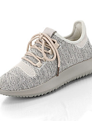Women's Sneakers Spring Comfort Fabric Casual Low Heel Lace-up