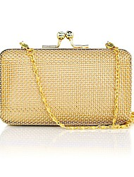 L.west Women's metal woven mesh bag