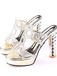 Femme-Décontracté--Gros Talon-club de Chaussures-Sandales-Similicuir