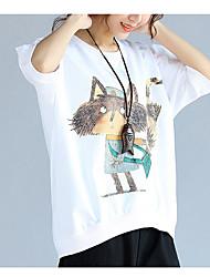 T-shirt Da donna Casual SempliceAnimal Rotonda Cotone Mezze maniche