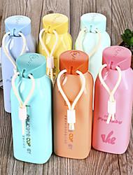 Творческая красочная стеклянная бутылка с веревкой (случайные цвета)