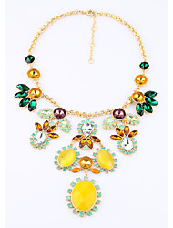 Women's Strands Necklaces Flower Chrome Personalized Luxury Jewelry For Wedding Congratulations