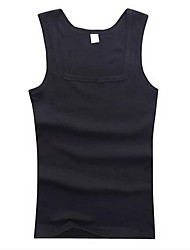 Men's Casual/Daily Simple Tank Top,Solid Strap Sleeveless Cotton