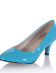 Women's Heels Spring Summer Formal Shoes Patent Leather Office & Career Dress Kitten Heel