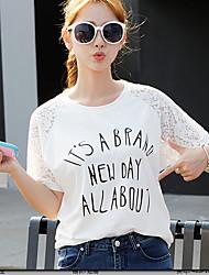 Damen Solide Street Schick Sport T-shirt,Rundhalsausschnitt Kurzarm Seide