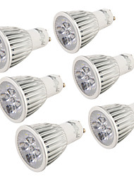 YouOKLight® 6PCS GU10 5W 400-450lm 3000K/6000K  5-High Power LED SpotLight Bulb Lamp  (AC110-120V/220-240V)-Silver