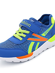 Boys' Athletic Shoes Spring Summer Light Soles Tulle Casual Flat Heel Magic Tape Royal Blue Dark Blue White Running