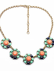 Women's Strands Necklaces Circle Chrome Unique Design Cute Style Orange Jewelry For Gift Daily 1pc