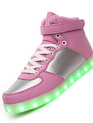 Feminino-Tênis-Light Up Shoes Shoe luminous-Rasteiro--Couro-Casual