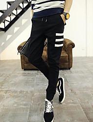 Men's Low Rise Micro-elastic Chinos Pants,Slim Solid