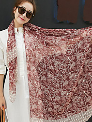 Bohemia Bbeach Tourism 2017 Cotton Rose Scarf Shawl Thin Long Rectangle Print Women's