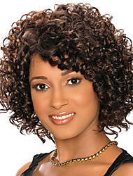 Cut Styles Natural Black Kinky Curly Wig 11inch 210g Heat Resistant  Synthetic Wigs WS561