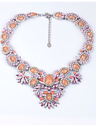 Women's Strands Necklaces Crystal Chrome Cute Style Euramerican Personalized Adorable Orange Jewelry For Wedding Party Congratulations