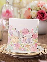 Personalizado Embrulhado e de Bolso Convites de casamentoEtiqueta do envelope Fan programa O menu do casamento Cartões de convite Cartões