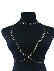 Women's Body Jewelry Body Chain Fashion Punk Copper Geometric Silver Gold Jewelry For Party Special Occasion Casual 1 pcs