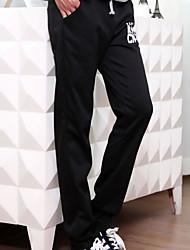 Hombre Free Form Cool Tiro Medio Micro-elástica Chinos Pantalones de Deporte Pantalones,Corte Ancho Corte Recto Un Color