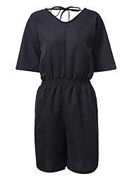 Women's Rompers,Simple Straight Solid