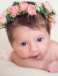 Newborn Baby's Handmade Flowers Wreath Colorful Girls Tire Handbands
