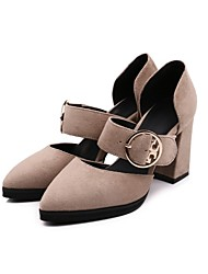 Women's Heels Spring Fall Club Shoes Mary Jane Gladiator Formal Shoes Comfort Novelty Flower Girl Shoes Ankle Strap Light SolesLeather