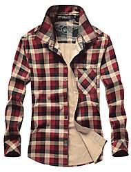 Homme Tee-shirt Pêche Respirable Printemps Vert Lichen Rouge