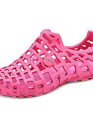 Feminino-Sandálias-Buraco Shoes-Rasteiro--Borracha-Casual