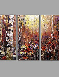 Abstract Scenery Picture Canvas Handpainted Oil Painting 3 Piece/set Wall Art With Stretched Frame Ready to Hang
