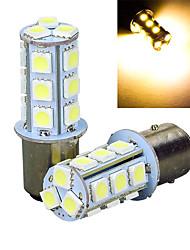 2pcs 1157 18 * 5050smd conduziu a luz morna lâmpada leve do carro dc12v