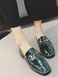 Women's Sneakers Light Up Shoes Cowhide Outdoor Low Heel Army Green Black Walking