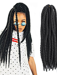 5Pcs Twist Crochet Braid Hair Extension 24 Inch Jumbo Braid for Havana Mambo Style Licks Pictures Color 120g/Per