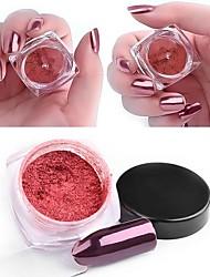 1 pc nail art la magie miroir en poudre rose or 2 g pack