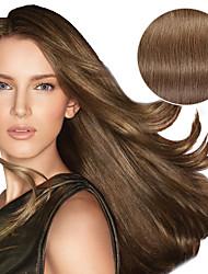 9pcs / set de luxe 120g # 8 cendres brun clip dans les extensions de cheveux 16 pouces 20 pouces 100% droites cheveux humains