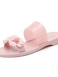 Women's Slippers & Flip-Flops Sandals Comfort Light Soles Transparent Shoe Customized Materials Silica Gel Summer Dress CasualFlower