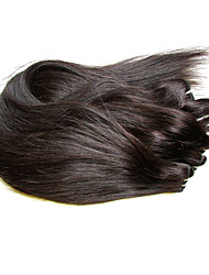 8A 4Bundles 400g Lot Brazilian Straight Virgin Hair Weaves 100% Unprocessed Human Hair Natural Black Color Soft and Smooth Texture No Shedding