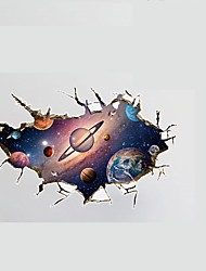 3D Planet Space Wall Stickers PVC Wall Decals Home Decoration Global Planet Stickers for Fmaily Kids