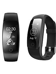 Id107 mais impermeável esporte coração inteligente taxa monitor pulseira pedômetro calor contra wristband