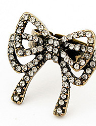 Han Edition Style Bright Drill Bow Not Silent Ring
