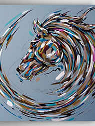 Hand-Painted  Abstract Horse Oil Painting With Stretcher For Home Decoration Ready to Hang