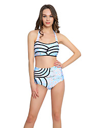 Bikinis Aux femmes Fleur Bandeau Nylon Spandex