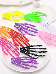 Hand Bone Hairpin Claw and Skeleton Claw and Skull With the Color of the Japanese Original Night Hair Ornament 10pcs