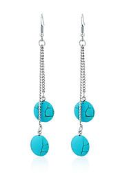 Femme Boucles d'oreilles Turquoise Original Mode euroaméricains Bijoux Pour Mariage Soirée Anniversaire